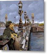 Paris-pont Alexandre Terzo Metal Print