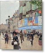 Paris, Rue Du Havre Circa 1882 Metal Print