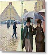 Paris Street In Rainy Weather - Digital Remastered Edition Metal Print