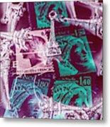 Parisian Postmarks Metal Print