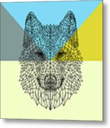 Party Wolf Metal Print