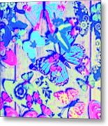 Pastel Wings And Button Butterflies Metal Print