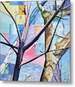 Patchwork Trees Metal Print