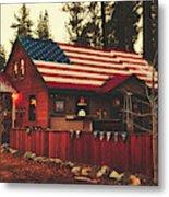Patriotic Bar And Grill Metal Print