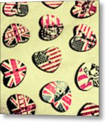 Patriotic Picks Metal Print