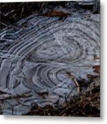 Patterns In Ice Metal Print