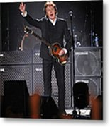 Paul Mccartney Brings The House Down At Metal Print