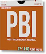 Pbi West Palm Beach Luggage Tag II Metal Print