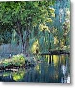 Peaceful Oasis - Japanese Garden Lake Metal Print
