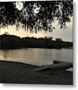 Peaceful Sunset At The Park Metal Print