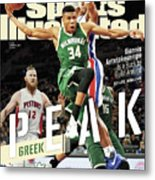 Peak Greek Giannis Antetokounmpo Is A Buck To Build Around Sports Illustrated Cover Metal Print