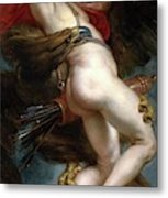 Pedro Pablo Rubens / 'the Rape Of Ganymede', 1636-1637, Flemish School, Oil On Canvas. Metal Print
