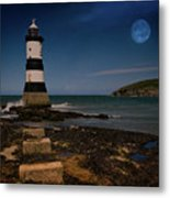 Penmon Lighthouse And Puffin Island Metal Print