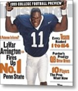 Penn State University Lavar Arrington, 1999 College Sports Illustrated Cover Metal Print