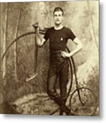 Penny Farthing - High Wheel - Ordinary   Metal Print
