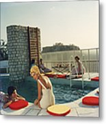 Penthouse Pool Metal Print