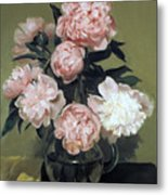 Peonies Front And Center Metal Print