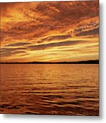 Percy Priest Lake Sunset Metal Print