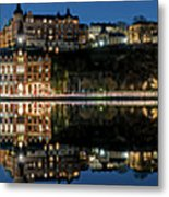 Perfect Sodermalm Blue Hour Reflection Metal Print