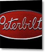 Peterbilt Emblem Black Metal Print