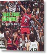 Philadelphia 76ers Julius Erving, 1982 Nba Eastern Sports Illustrated Cover Metal Print