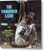 Philadelphia 76ers Moses Malone, 1983 Nba Finals Sports Illustrated Cover Metal Print