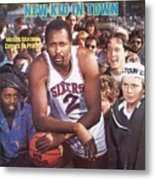 Philadelphia 76ers Moses Malone Sports Illustrated Cover Metal Print