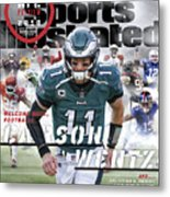 Philadelphia Eagles Carson Wentz, 2018 Nfl Football Preview Sports Illustrated Cover Metal Print