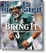 Philadelphia Eagles Qb Donovan Mcnabb, 2008 Nfl Football Sports Illustrated Cover Metal Print