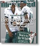 Philadelphia Eagles Qb Donovan Mcnabb And Terrell Owens Sports Illustrated Cover Metal Print