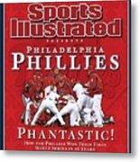 Philadelphia Phillies Vs Tampa Bay Rays, 2008 World Series Sports Illustrated Cover Metal Print