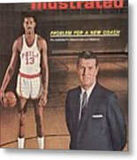 Philadelphia Warriors Coach Frank Mcguire And Wilt Sports Illustrated Cover Metal Print