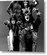 Photo Of Ace Frehley And Peter Criss Metal Print
