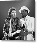 Photo Of Bruce Springsteen And Clarence Metal Print