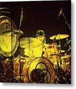Photo Of John Bonham And Led Zeppelin Metal Print