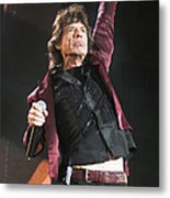 Photo Of Mick Jagger And Rolling Stones Metal Print