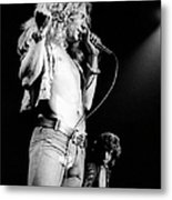 Photo Of Robert Plant And Led Zeppelin Metal Print