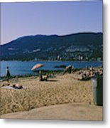 photograph of thid beach which is located in Stanley Park Vancouver. Third beach is a popular location for tourists and locals alike. Metal Print