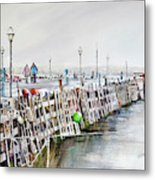 Piers To Be Cold Metal Print