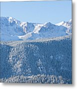 Pikes Peak In Fresh Snow Metal Print