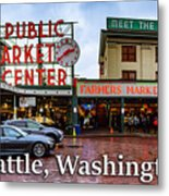 Pikes Place Public Market Center Seattle Washington Metal Print