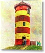 Pilsum Lighthouse Leuchtturm  Metal Print