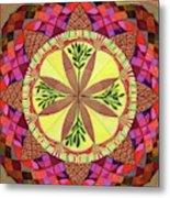 Pine Cone Mandala Metal Print