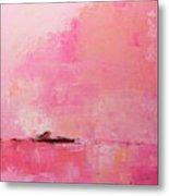 Pink Sky Abstract Metal Print