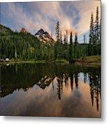 Pinnacle Peak Sunset Reflection Angles Metal Print
