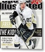 Pittsburgh Penguins Sidney Crosby, 2013-14 Nhl Hockey Sports Illustrated Cover Metal Print
