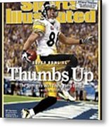 Pittsburgh Steelers Hines Ward, Super Bowl Xl Sports Illustrated Cover Metal Print