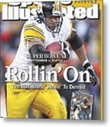 Pittsburgh Steelers Jerome Bettis, 2006 Afc Championship Sports Illustrated Cover Metal Print