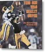Pittsburgh Steelers John Stallworth, Super Bowl Xiv Sports Illustrated Cover Metal Print