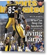 Pittsburgh Steelers Nate Washington And Santonio Holmes Sports Illustrated Cover Metal Print